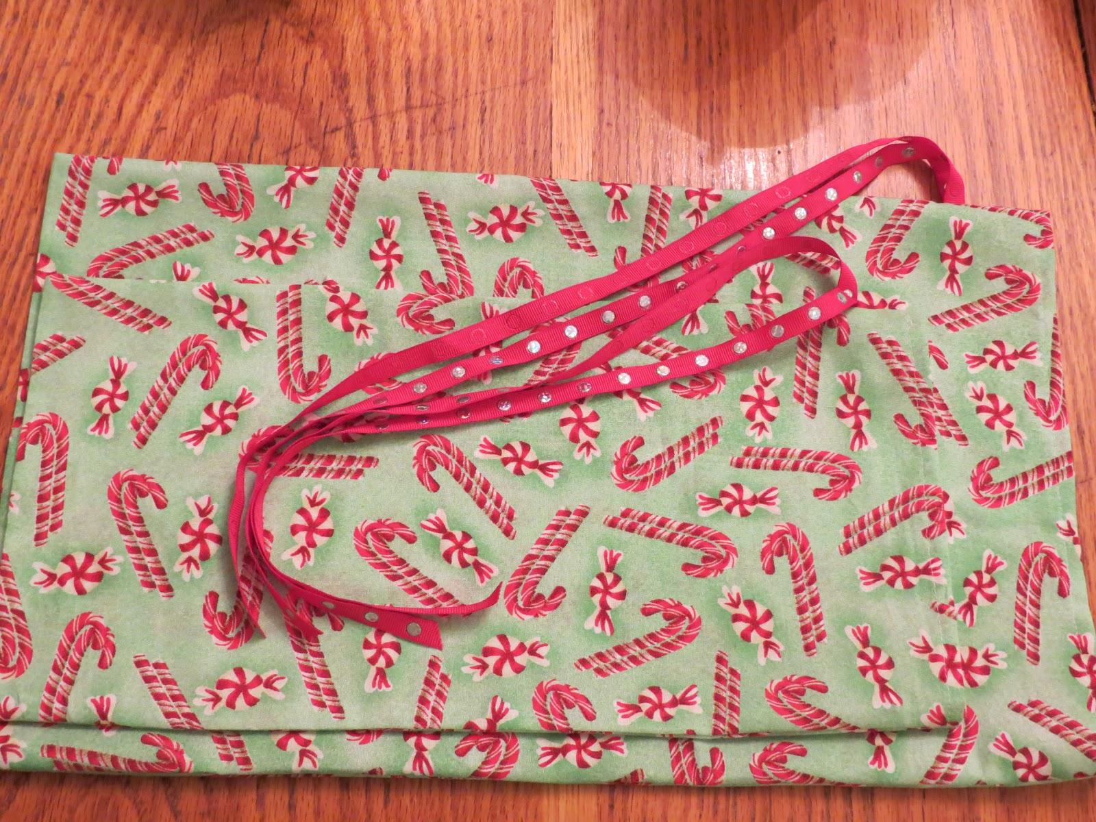 Welcome Home Katya!: Re-useable Cloth Christmas Gift Bags