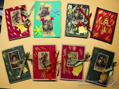Новогодние открытки сделанные детскими руками