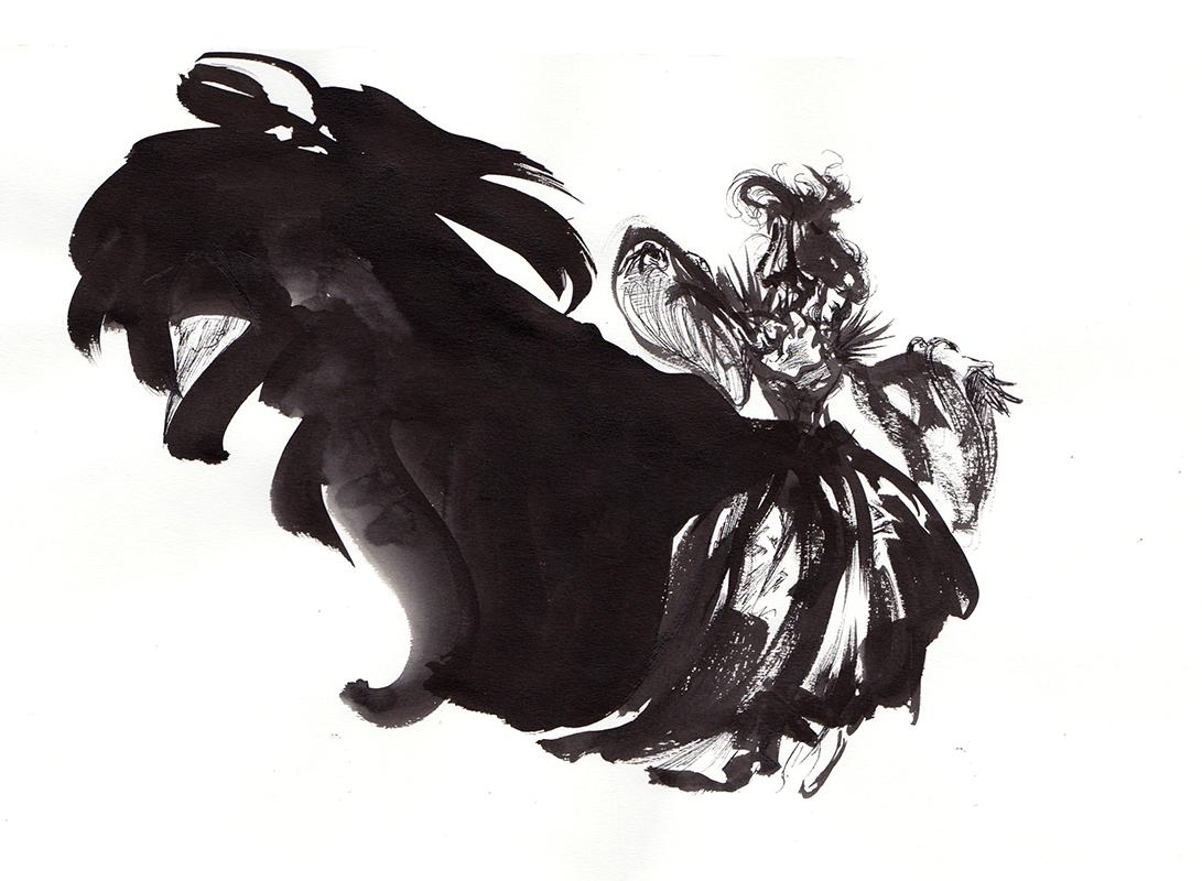 La robe noire d'une Cendrillon rebelle