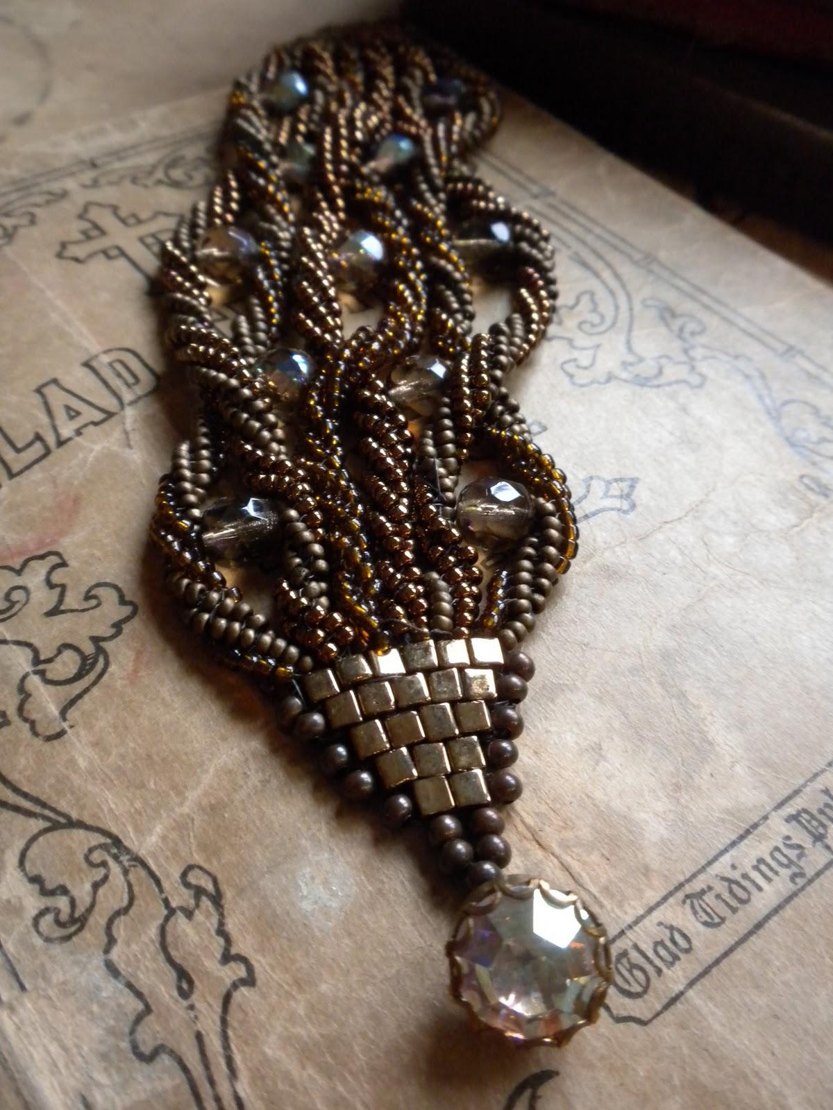Artful Panoply Bead Weaving Twisted Bracelet
