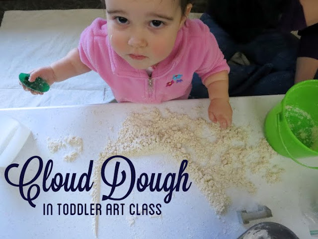 http://librarymakers.blogspot.com/2013/02/toddler-art-class-cloud-dough.html