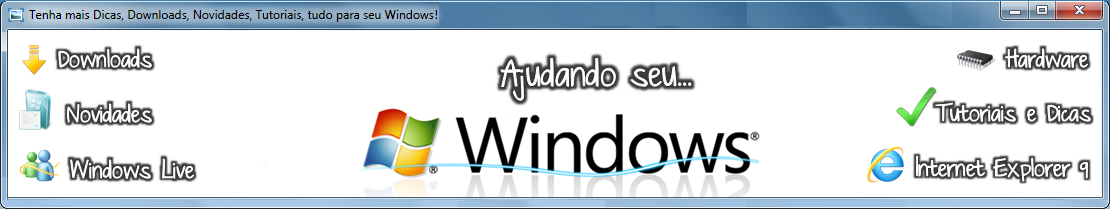 Ajudando seu Windows