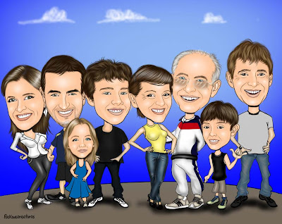 Caricatura de toda a familia