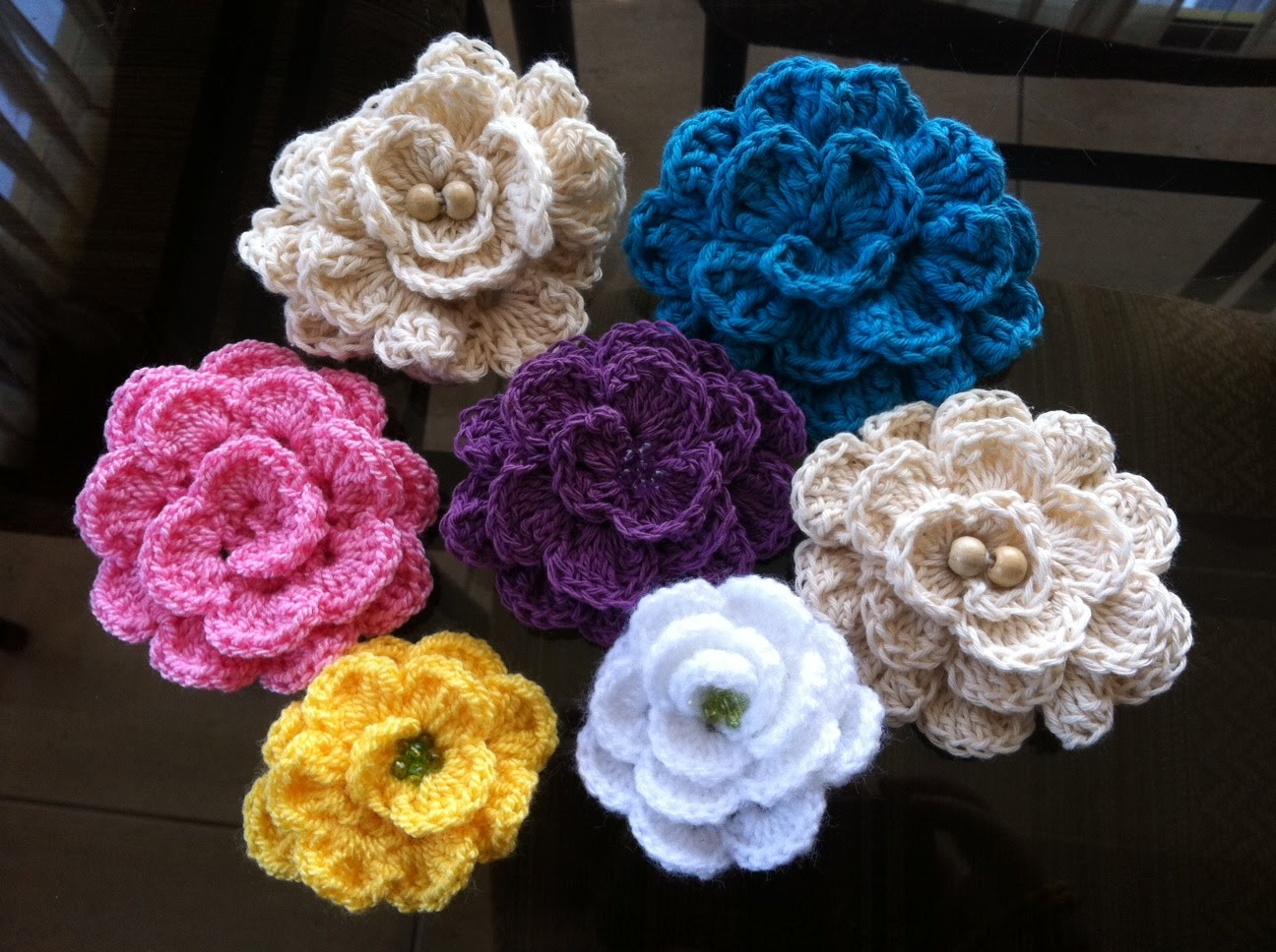 Download image Flores De Lana Tejidas En Crochet PC, Android, iPhone