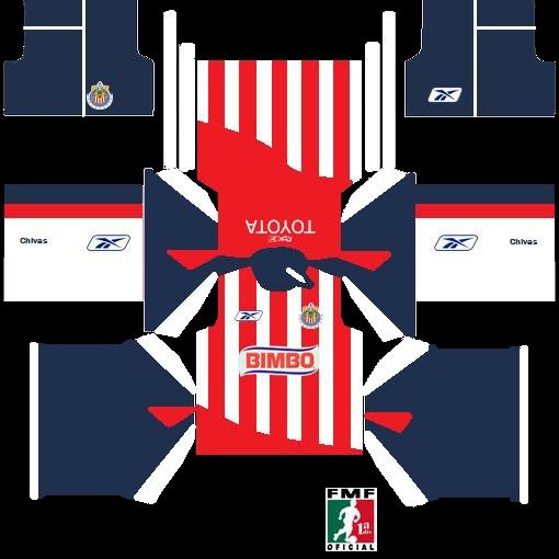 Uniforme De Chivas 2007 Para Dream League Soccer