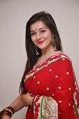 Priyal Gor Dazzling in Red Saree-thumbnail-4