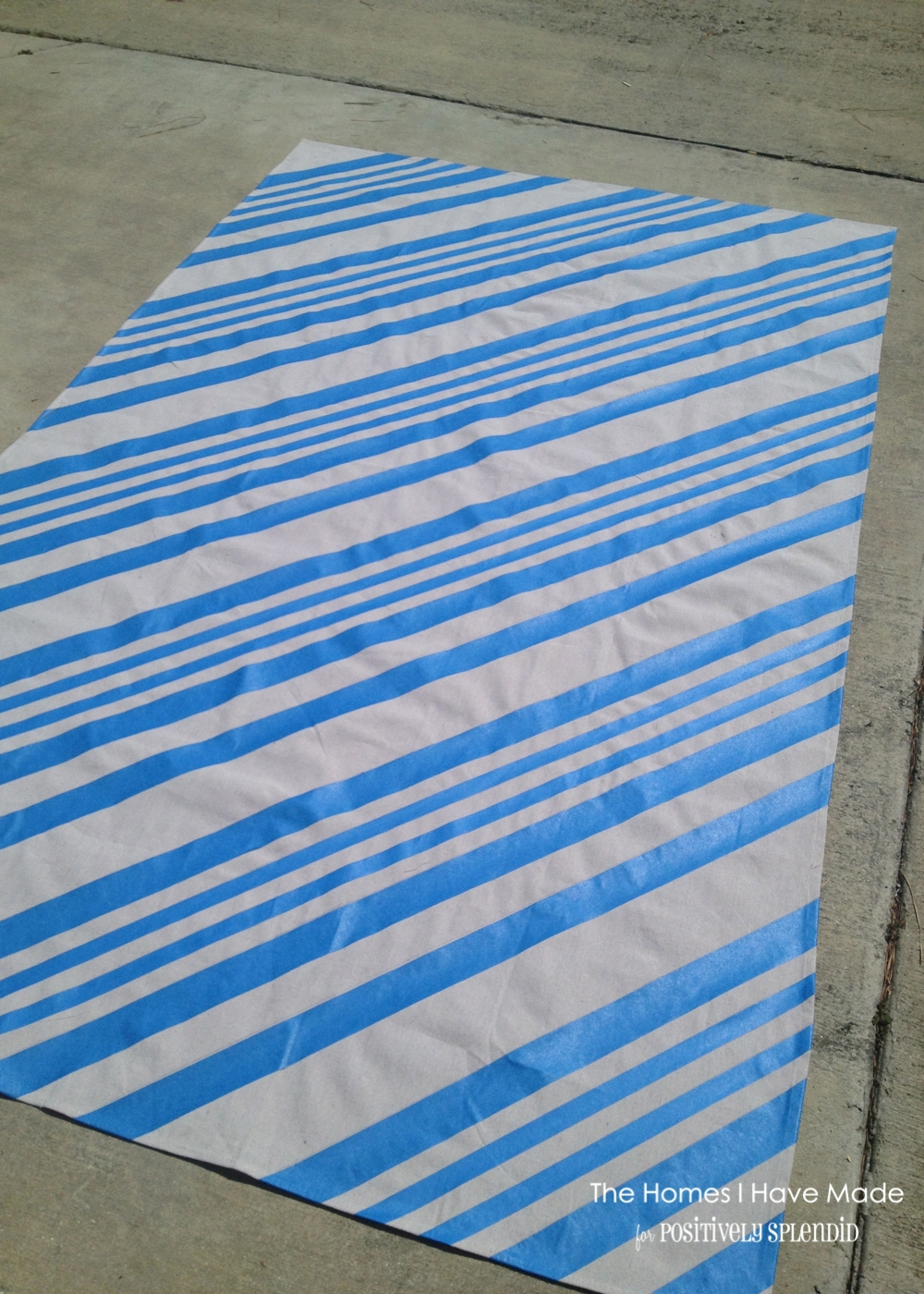 Painted canvas floor cloth from a drop cloth for How to paint a floor cloth