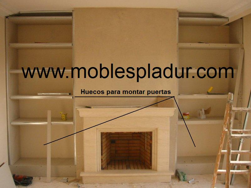 Pladur barcelona chimeneas y pladur - Muebles de salon con chimenea integrada ...