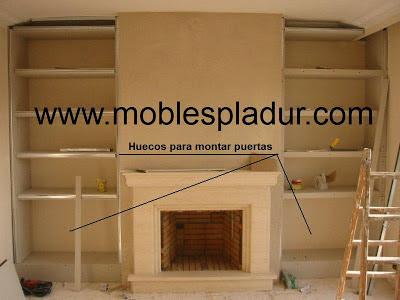 Pladur barcelona chimeneas y pladur - Muebles de chimenea ...