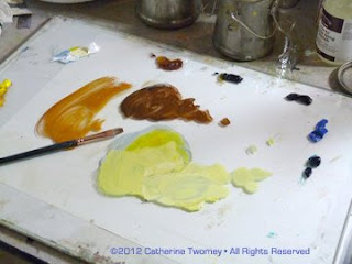 Adding ultramarine, cerulean, alizarin and viridian to the palette