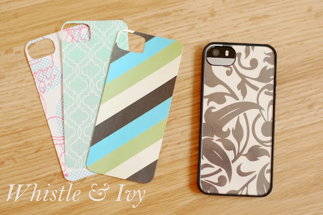 DIY iPhone case made from cute paper