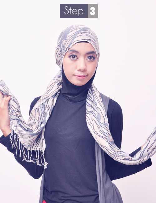 Tutorial Memakai Jilbab Praktis Tanpa Peniti