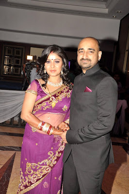 Sunidhi Chauhan's at her wedding reception