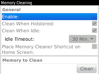 memory cleaning blackberry