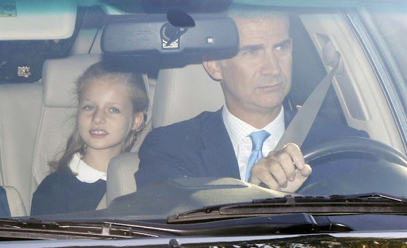 Queen Letizia and King Felipe bring their daughters Princess Leonor and Princess Sofia