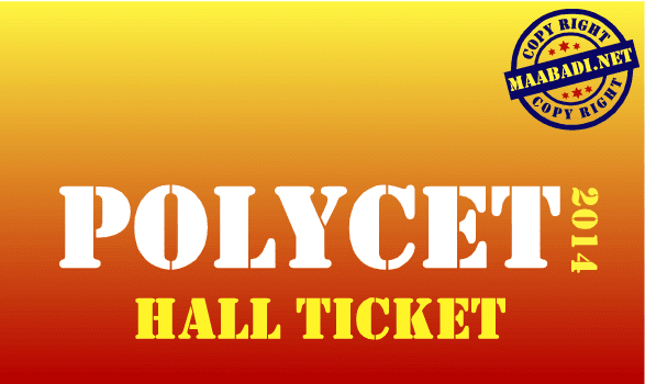 AP POLYCET 2014 Hall Ticket