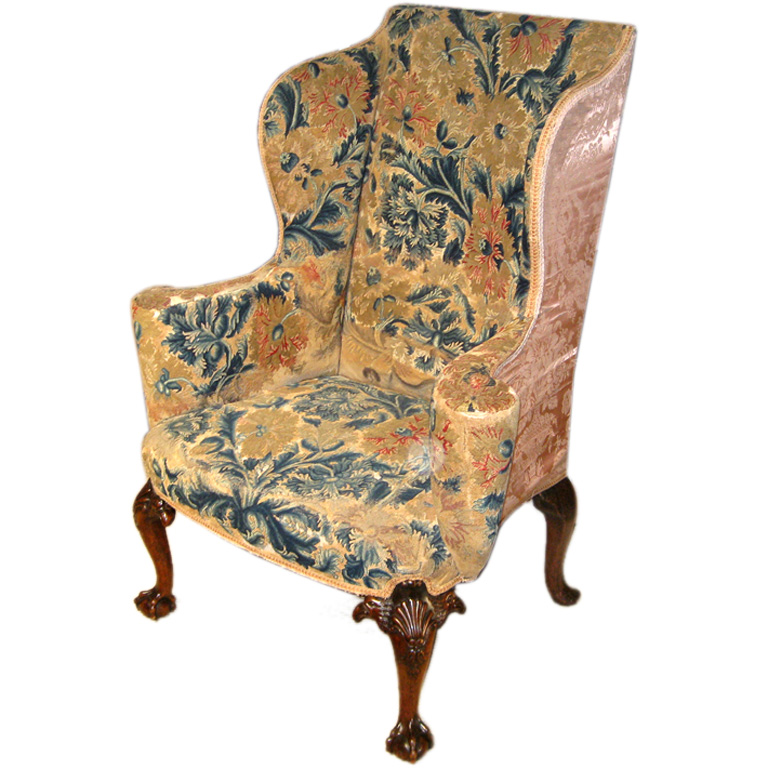 Ist Dibs Chair $18,000 - Antique Style: 18th Century George III Wingback Chair Upholstering