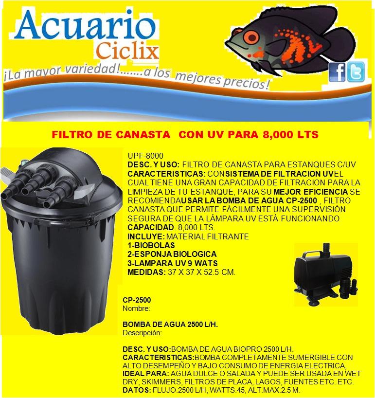 Hola les presentamos algunos productos necesarios para su for Todo para estanques