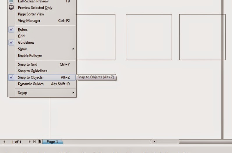 Penggunaan Snap to Objects pada Corel Draw