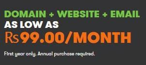 Godaddy : Domain & Website & Email For at Rs.99 Per Month : Buy To Earn