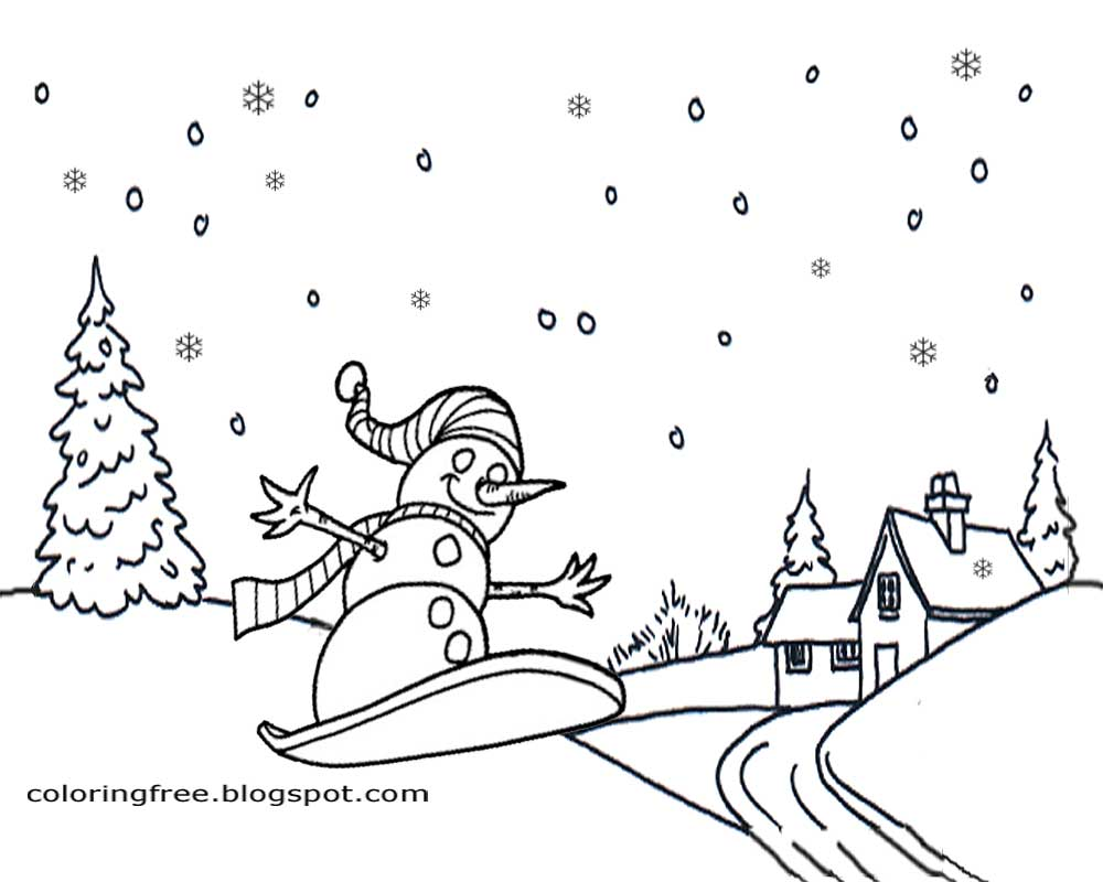 Winter Theme Page at EnchantedLearningcom