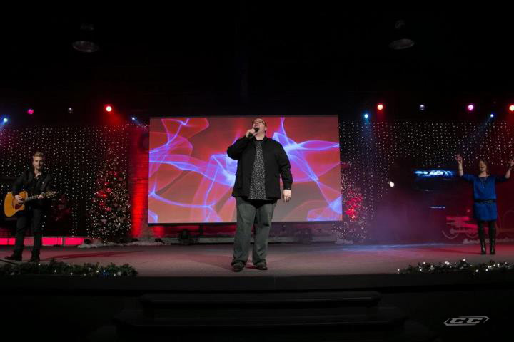 Patrick Dopson - Open The Heavens 2012 singing live on stage