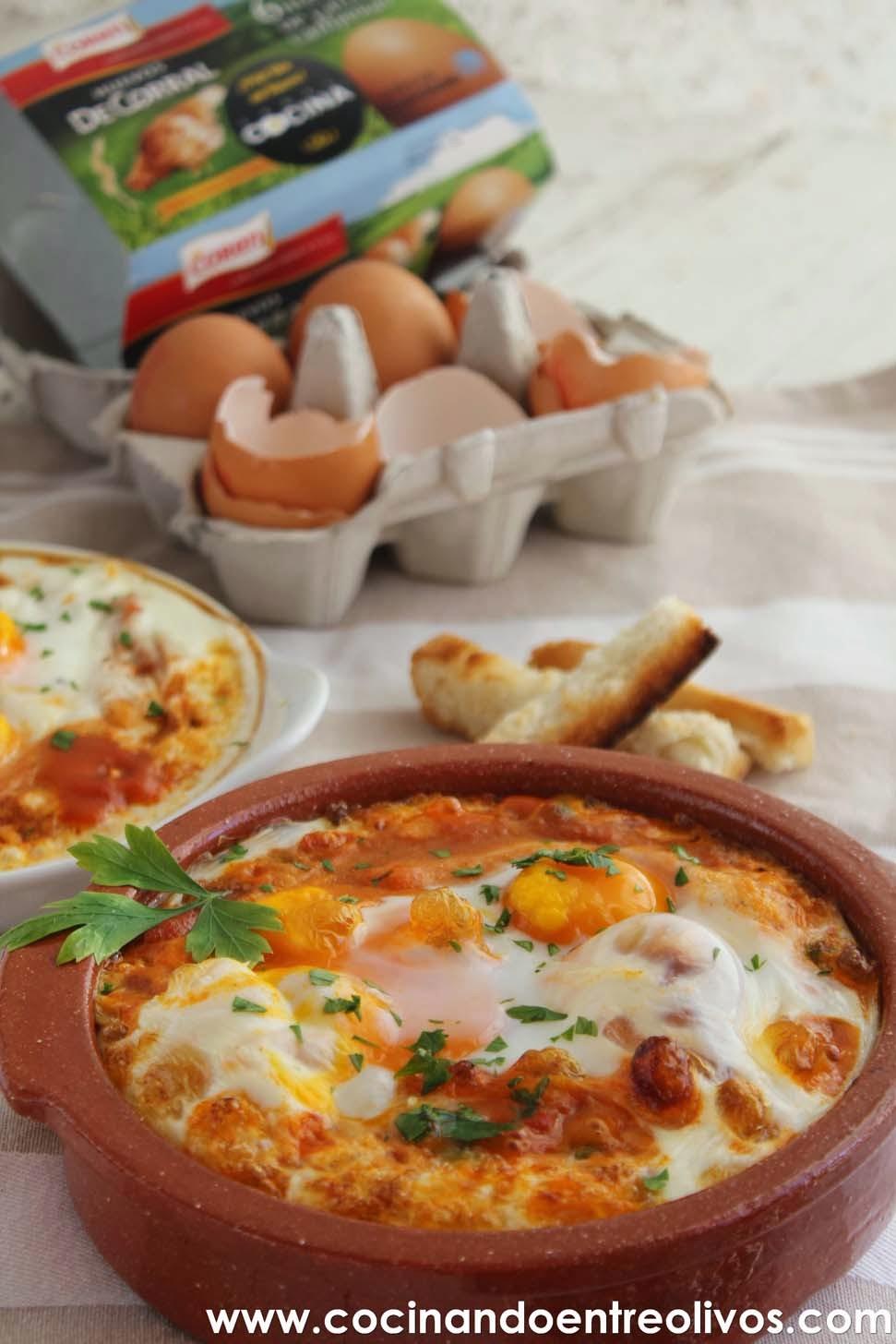 Cocinando entre olivos huevos a la flamenca receta paso for Cocinando 1000 huevos