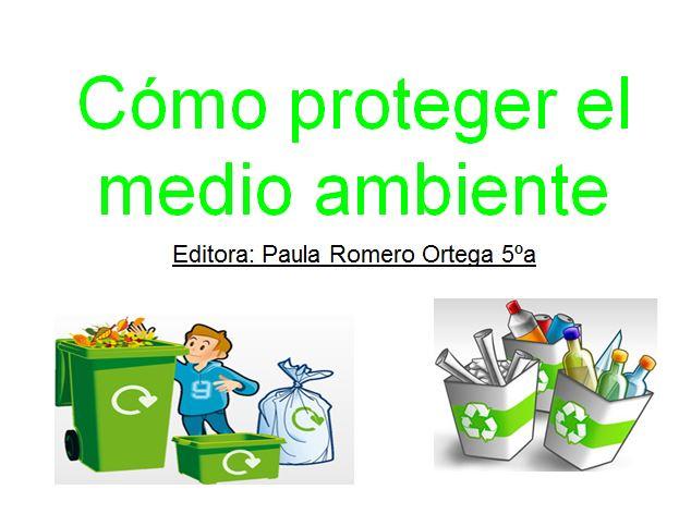 PROTEGER EL MEDIO