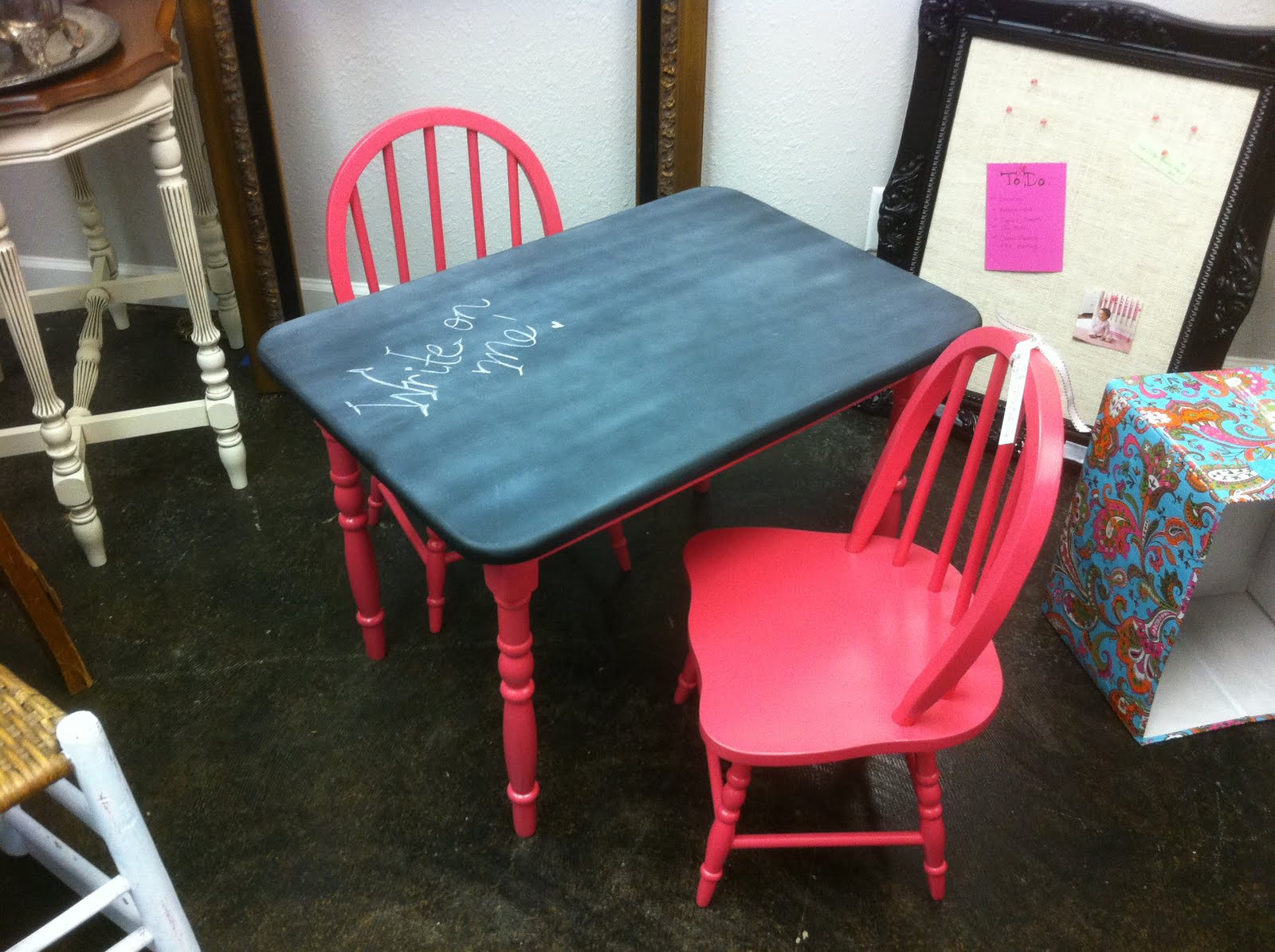 Funky Fun Finds Kids Chalkboard Table Chair Set