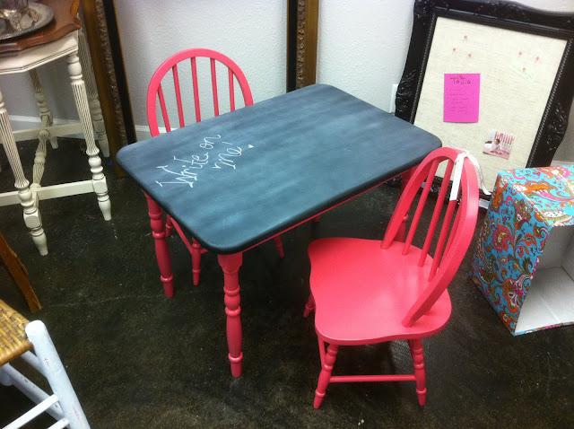 Funky Fun Finds Kids Chalkboard Table Chair Set