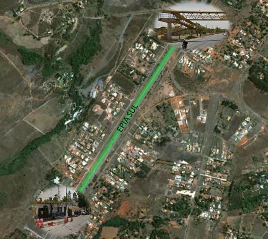 Trecho da EPIA que será interditado em virtude das obras do VLP - Gama-Santa Maria/Plano Piloto