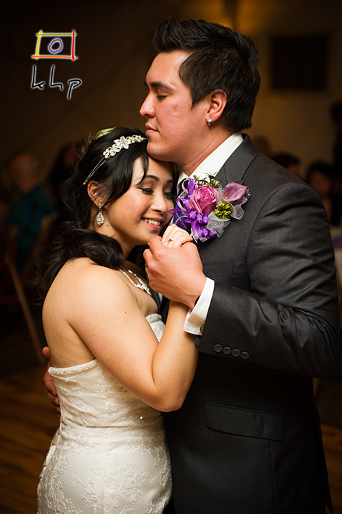 Love is palpable in this picture of the newlyweds' first dance.