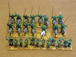 A horde from the dead-sea bottoms of Barsoom. 15mm figures from Peter Pig.