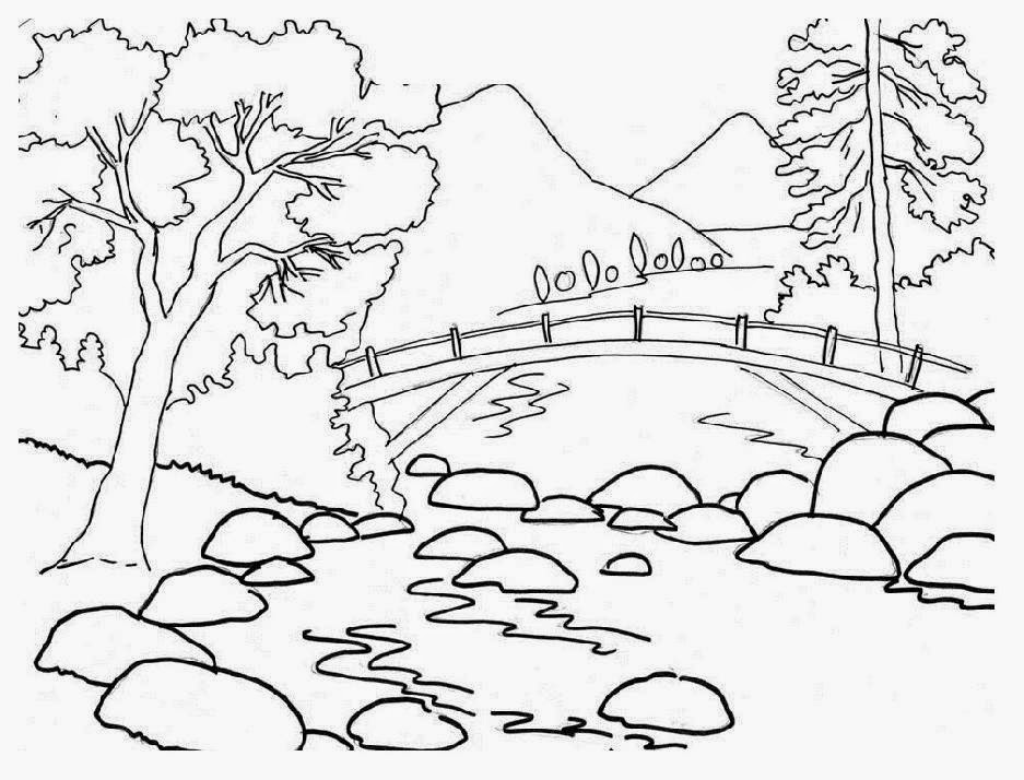 Easy Nature Landscape Drawing