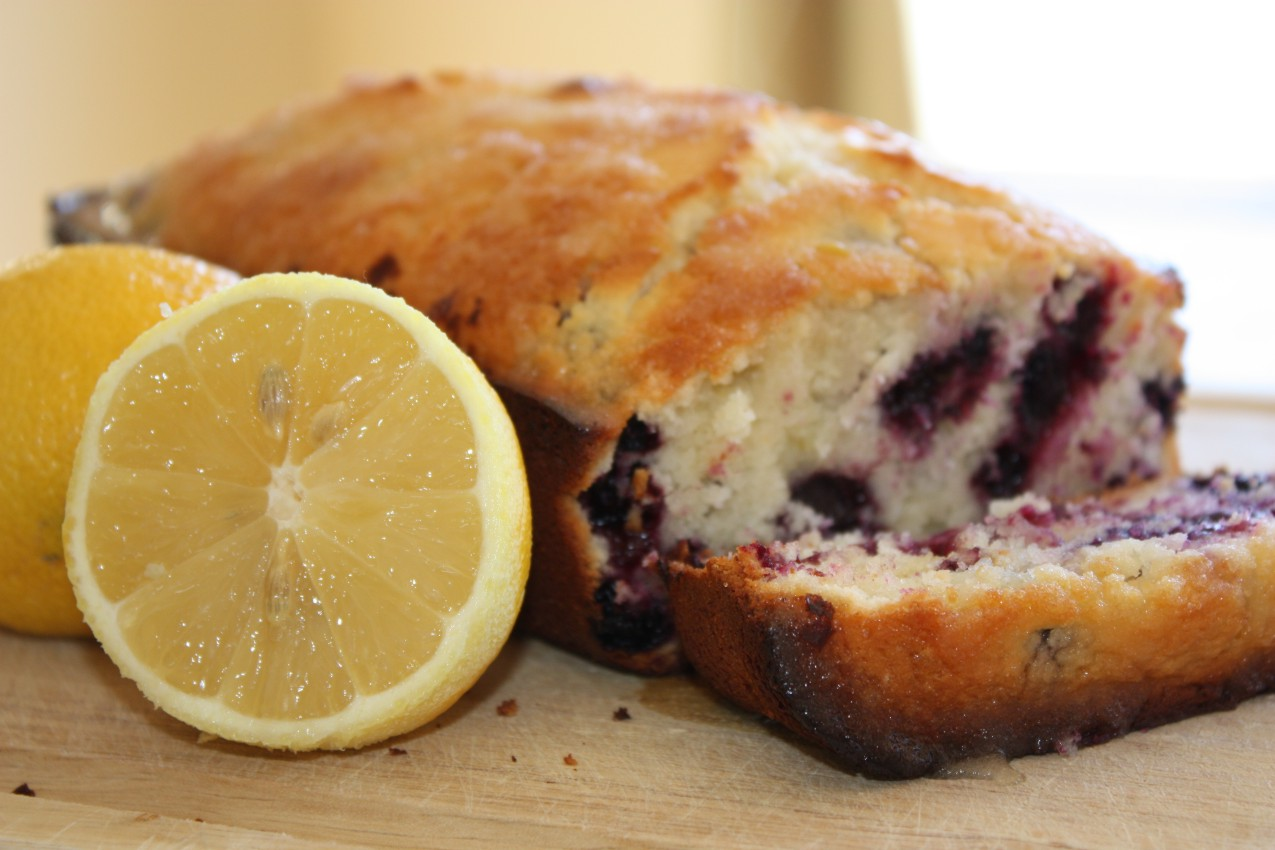 pass the peas, please: lemon blueberry bread