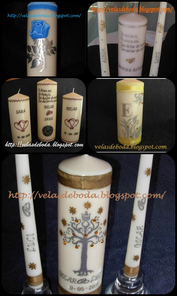 velas para bodas personalizadas