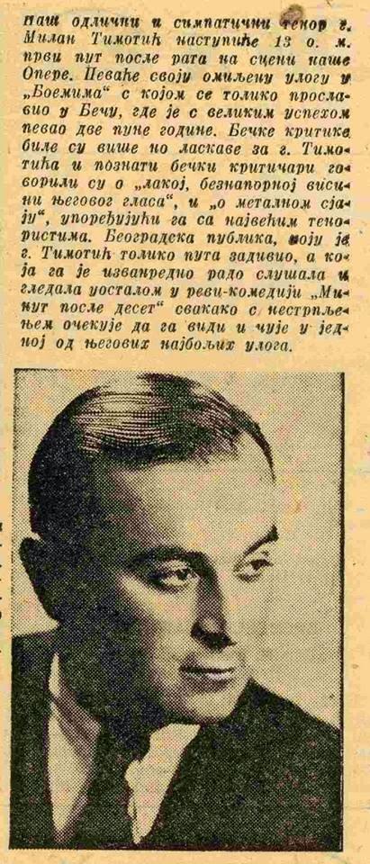 ,, Kolo ,, o Milanu Timotiću 10. 04. 1943.g.