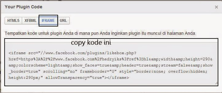Memasang widget FP