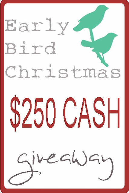 Early Bird Christmas Cash Giveaway at Love Grows Wild!