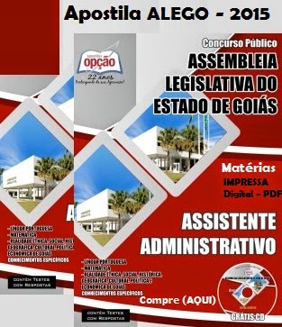 Apostila Assembleia Legislativa do Estado de Goiás - 2015
