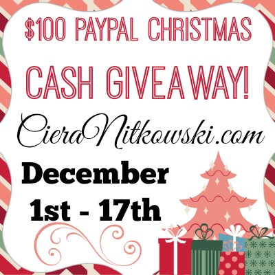 Blogger Opp ~ $100 Paypal Christmas Cash Giveaway ! #Giveaway #BloggerOpp www.withablast.net