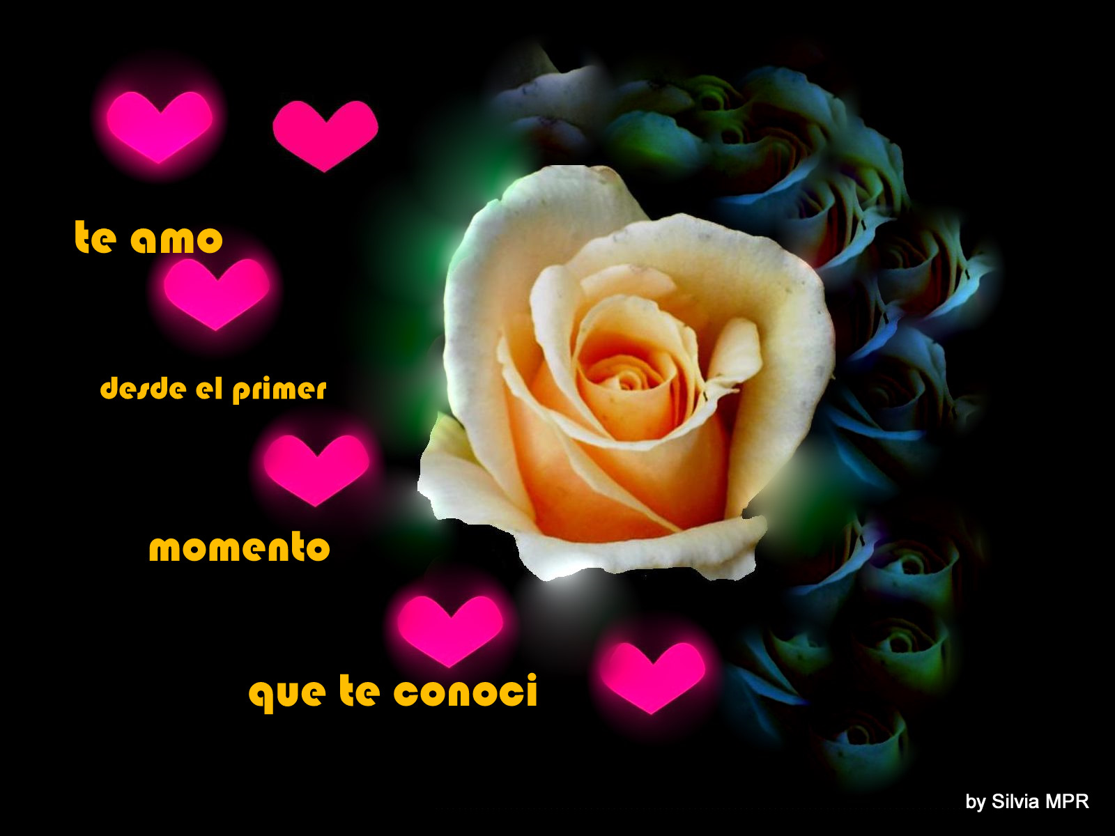 imagenes de amor con frase de amor romanticas con corazones te amo ...
