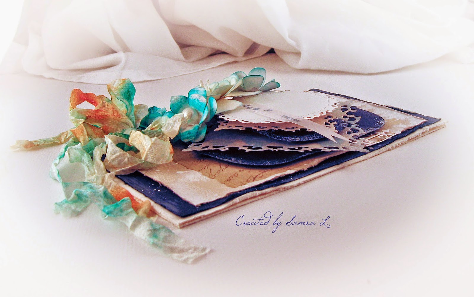 Shabby Chic Colors For 2015 : Paper talk with samra: dear mom vintage shabby chic card