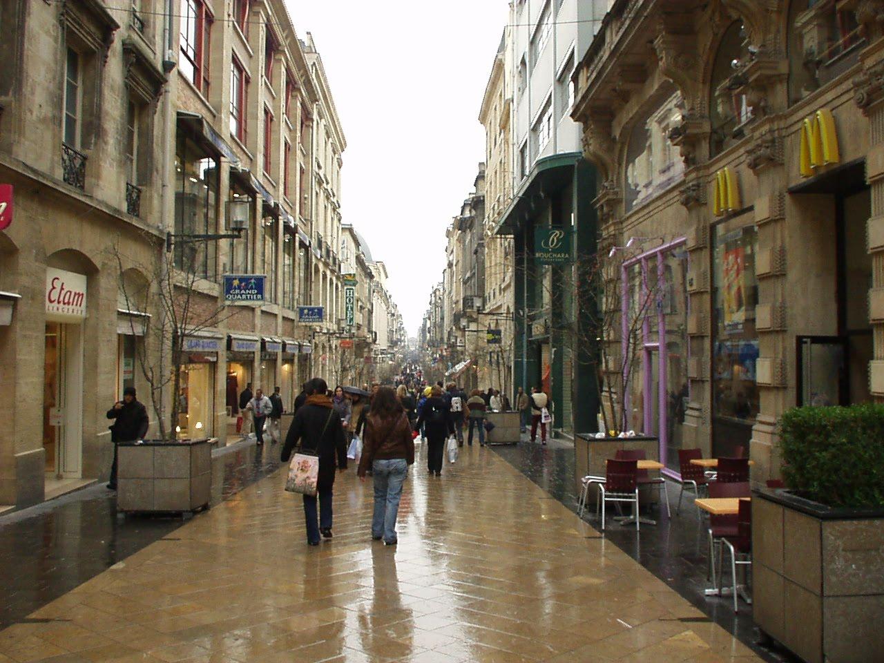 Bordeaux Rue Pietonne Centre Ville