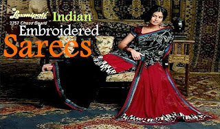 Indian Designer Embroidered Sarees