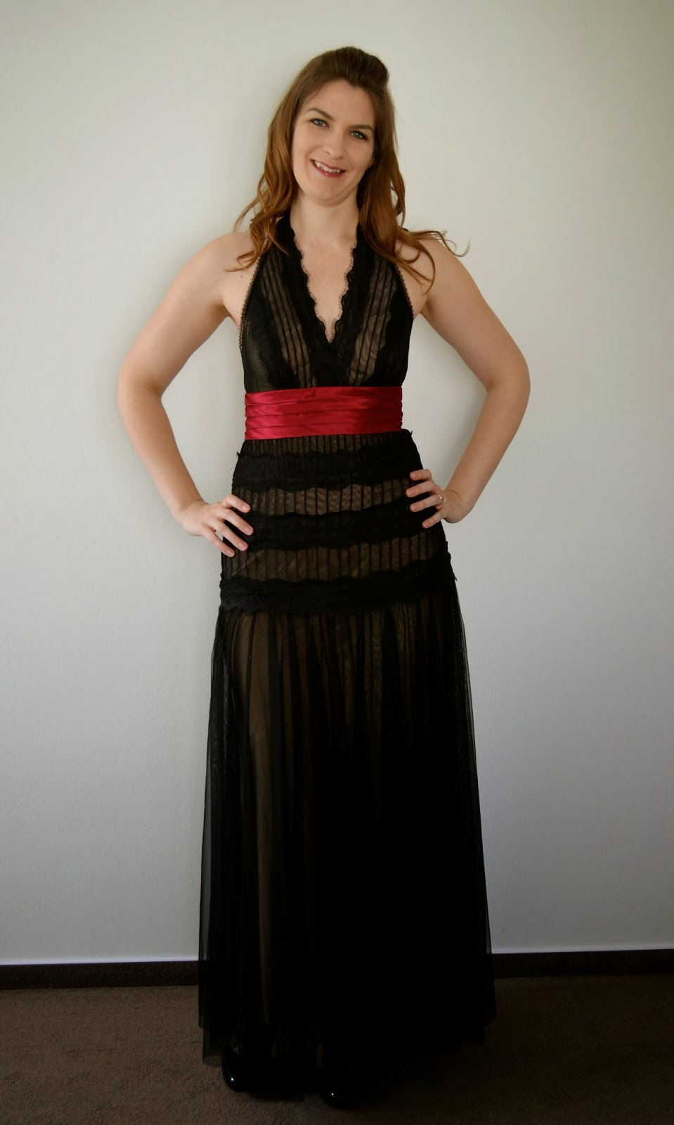 Extra-long formal dress