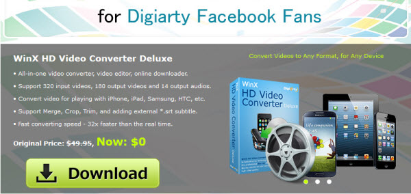 [Giveaway] WinX HD Video Converter Deluxe - Free license key