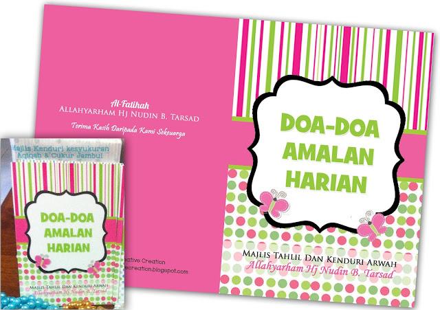 custom made buku doa