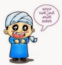 gambar Kartun  Muslim ingin sholeh
