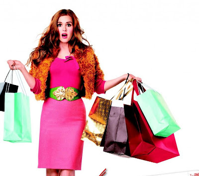 woman with shopping bags- from movie poster